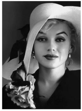 Spiegellijst met Marilyn Monroe with hat