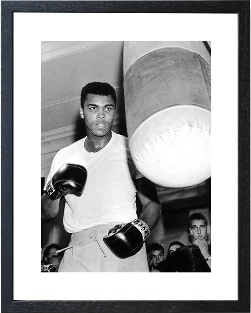 Fotolijst zwart wit foto Muhammad Ali 'The Greatest'