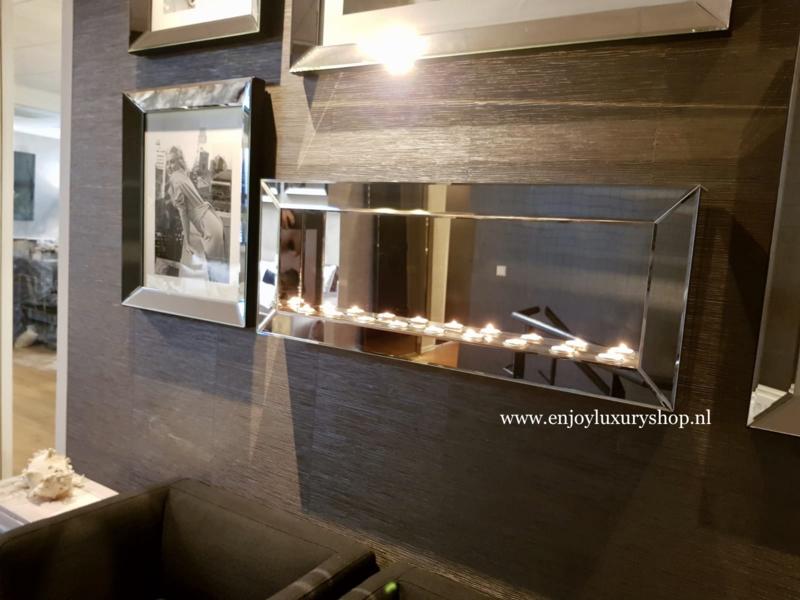 Luxe Sfeerhaard Spiegel voor waxinelichtjes