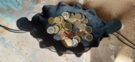 LIAM'S geldbuidel/geldzakje kleur ZWART
