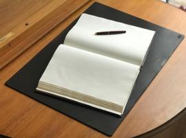 3mm thick Leather desk pad, 65 cm x 45 cm, dark brown