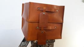 LECTURE BIN - STORAGE BOX - GOODIE BOX - 28 cm WIDE - 32 cm DEEP - 13 cm HIGH - COGNAC
