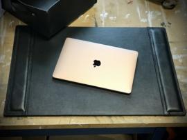 Full Leather Side Rail Desk pad, black - 65cm x 45 cm