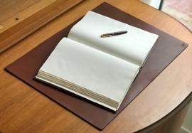 3mm thick Leather desk pad, 65 cm x 45 cm, cognac