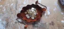 LIAM'S geldbuidel /geldzakje kleur BRUIN