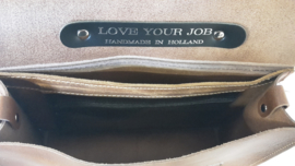 "Aktetas ""Love Your Job Small Business"" A4 35 cm. x 26 cm. Splitleder"