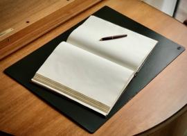 3mm thick Leather desk pad, 65 cm x 45 cm, black