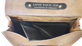 "Briefcase ""Love Your Job Business as Usual"" A4 35 cm. x 26 cm. Black"