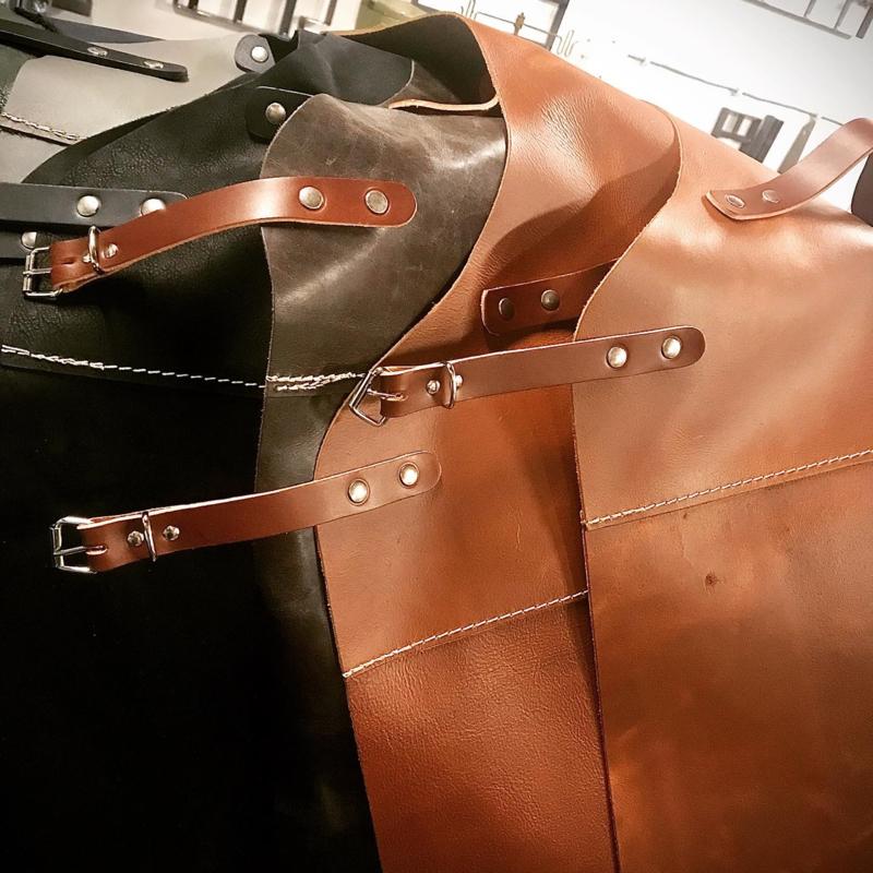 Leather apron.