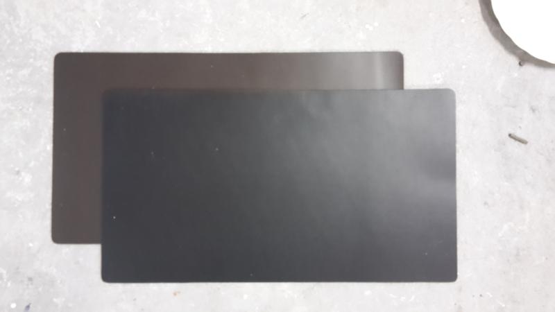 Leren placemat 40 x 30 cm. zwart