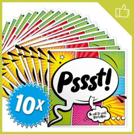 MUZIEKWENSKAART - PSSST (60 SEC.) x10