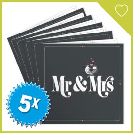 MUZIEKWENSKAART - MR & MRS (60 SEC.) x5