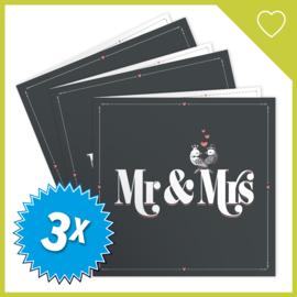 MUZIEKWENSKAART - MR & MRS (60 SEC.) x3