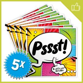 MUZIEKWENSKAART - PSSST (60 SEC.) x5