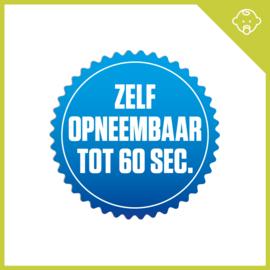 MUZIEKWENSKAART - HOERA EEN JONGEN (60 SEC.) x3