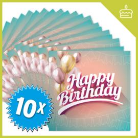 MUZIEKWENSKAART - HAPPY BIRTHDAY (60 SEC.) x10