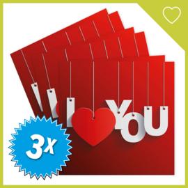 MUZIEKWENSKAART - I LOVE YOU (60 SEC.) x3