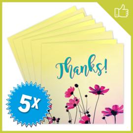 MUZIEKWENSKAART - THANKS (60 SEC.) x5