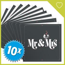 MUZIEKWENSKAART - MR & MRS (60 SEC.) x10