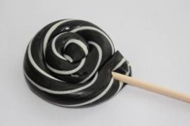 Swirl lollie zwart/wit