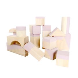 Roze geometrische blokken