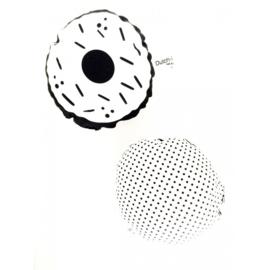 Witte donut rammelaar