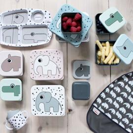 Set 3 lunchbox - snack doosjes - Nozo and friends blauw