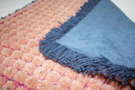 oudroze met indigo blauw  en fleece