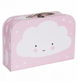 koffertje wolk - roze
