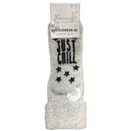 Huissokken Natural Wool (LICHT GRIJS)
