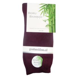 Bamboe-sok l BORDEAUX ROOD l NAADLOOS l BORU