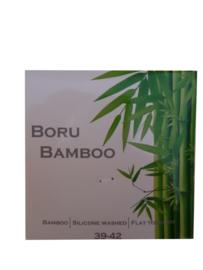 Bamboe-sok | JEANS-BLAUW | BREDE STREEP | NAADLOOS | BORU