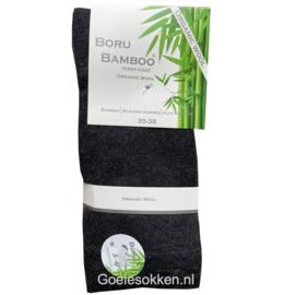 BAMBOE-WOL COMBI | BADSTOF ZOOL | BLAUW | NAADLOOS | BORU