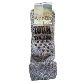 Huissokken Natural Wool l LICHT PAARS l APOLLO