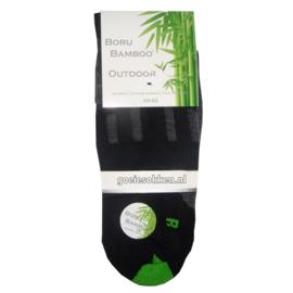 Bamboe Outdoor Wandelsok (zwart) l BORU