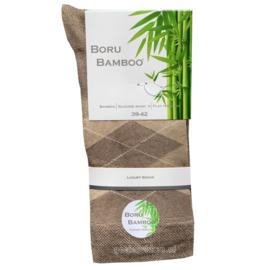 Bamboe-sok | BEIGE | RUIT | NAADLOOS | BORU