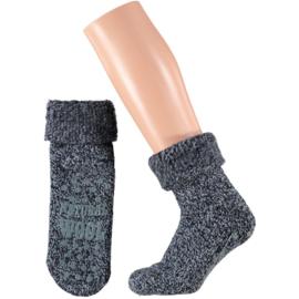 Huissokken Natural Wool l BLAUW l APOLLO