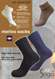 Merino Wollen Sokken | S29 | BLAUW | EUREKA