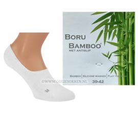 BAMBOE | SNEAKER-SOCK | WIT | NAADLOOS | BORU