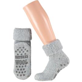 Huissokken Natural Wool l LICHT BLAUW l APOLLO