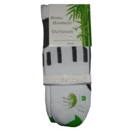 Bamboe Outdoor-Wandelsok (wit) l BORU