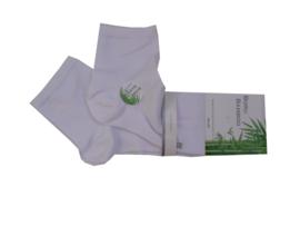 Bamboe Biker Sock | WIT | NAADLOOS | BORU