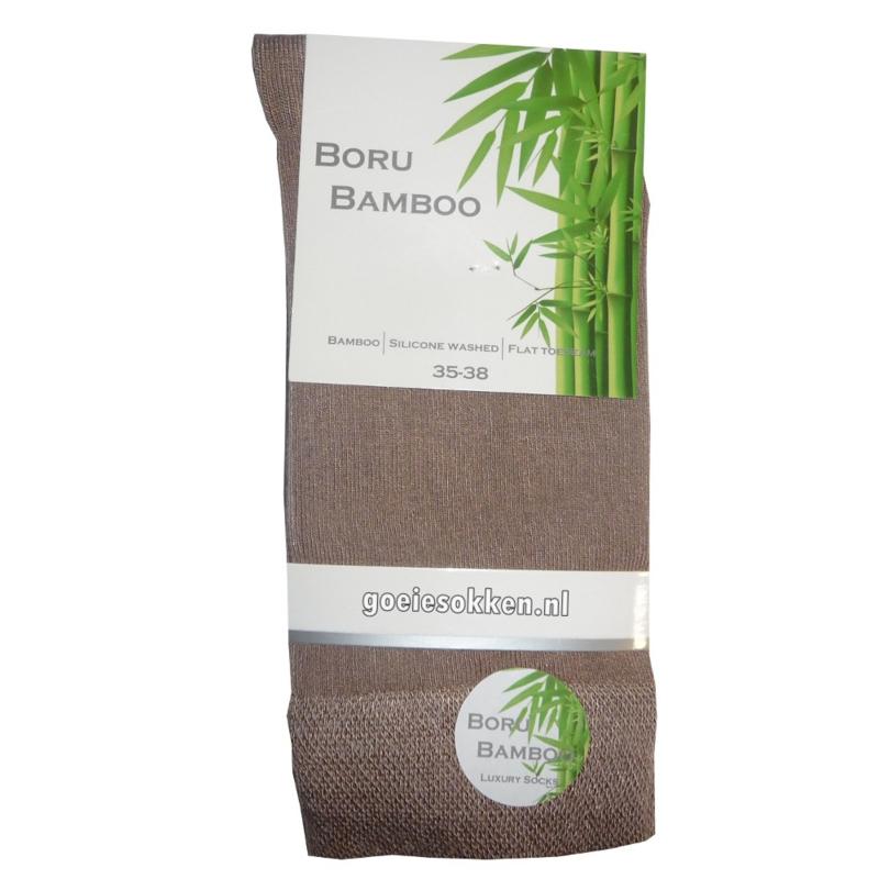 BAMBOE-SOK | DONKER BEIGE | NAADLOOS | BORU