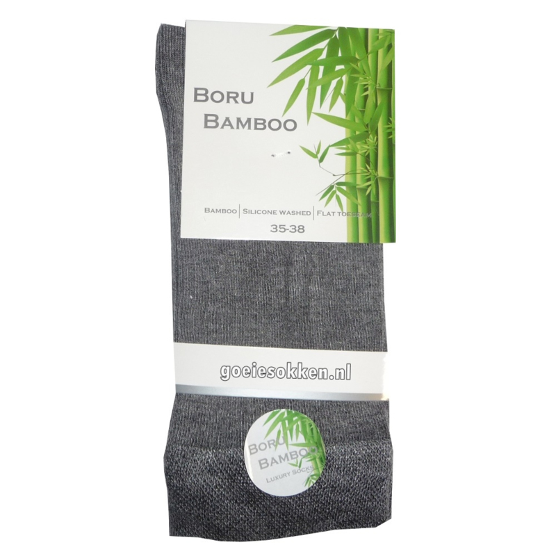 Bamboe-sok | GRIJS | NAADLOOS | BORU