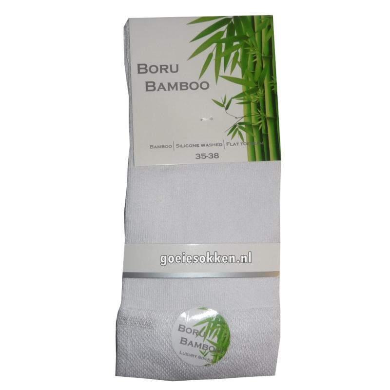 Bamboe-sok | WIT | NAADLOOS | BORU