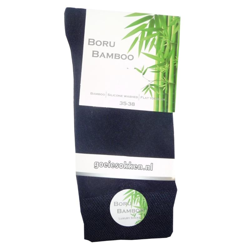 Bamboe-sok | BLAUW | NAADLOOS | BORU