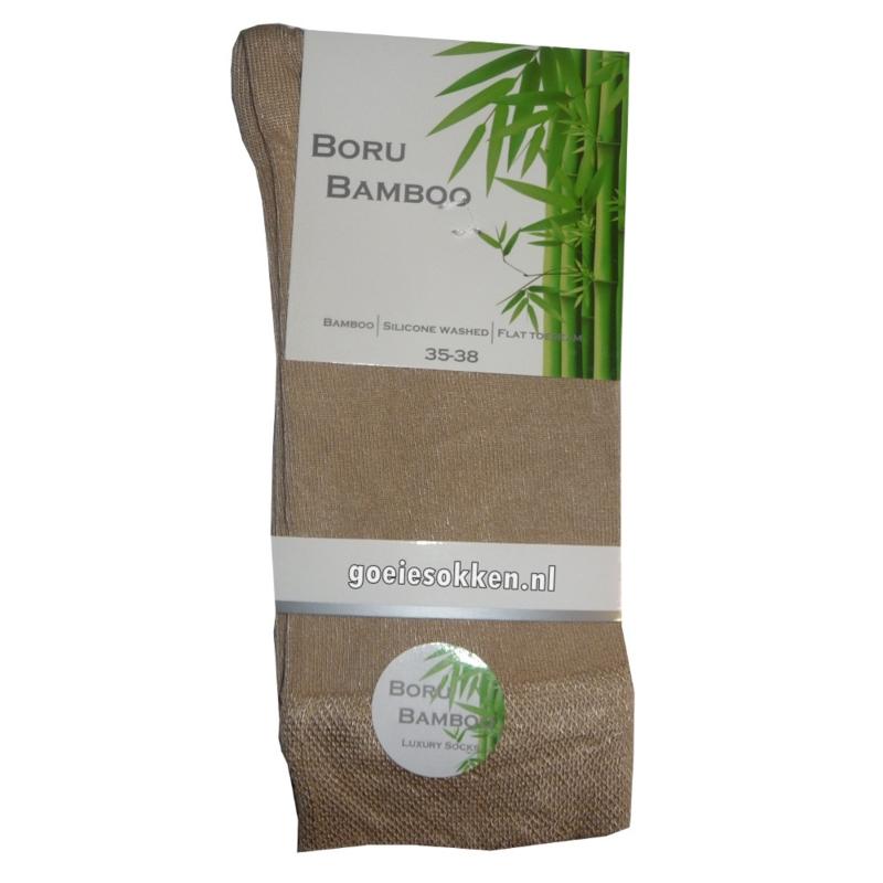 Bamboe-sok | LICHT BEIGE | NAADLOOS | BORU