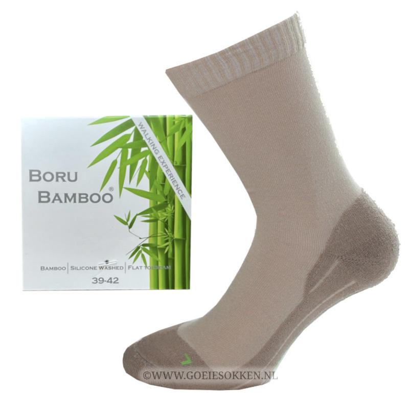 BAMBOE   WANDELSOK   NAADLOOS   BEIGE    BORU