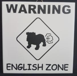 "Tegeltje ""English zone"""