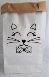 Paperbag Poezengezicht
